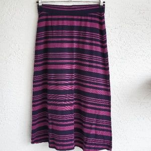 Crown & Ivy Navy Blue and Fuchsia Maxi Skirt